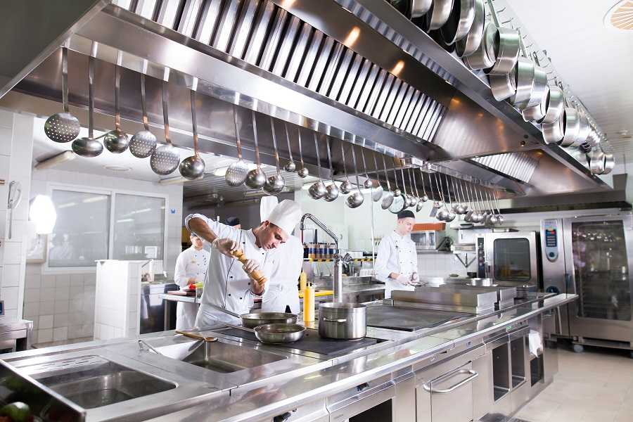 Cappe cucine industriali